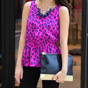 Hot Pink Leopard Print Lilly Pulitzer Top